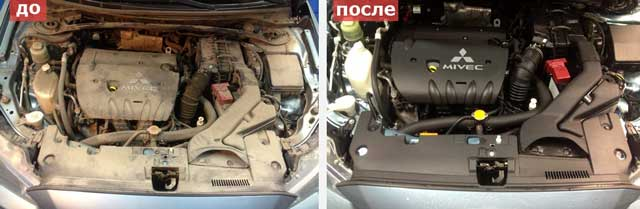 Как помыть двигатель автомобиля керхером