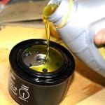 Смазка масляного фильтра перед заменой