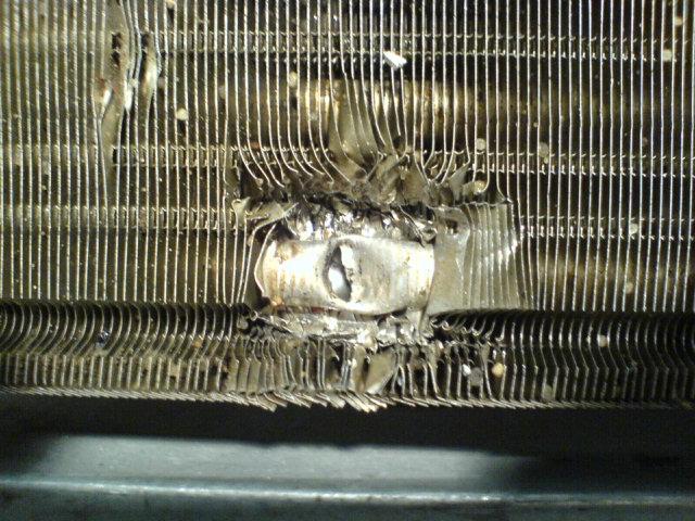 Пробит радиатор