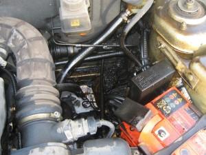 Течь масла в двигателе
