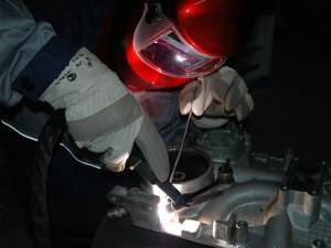 Заваривание трещины блока цилиндров