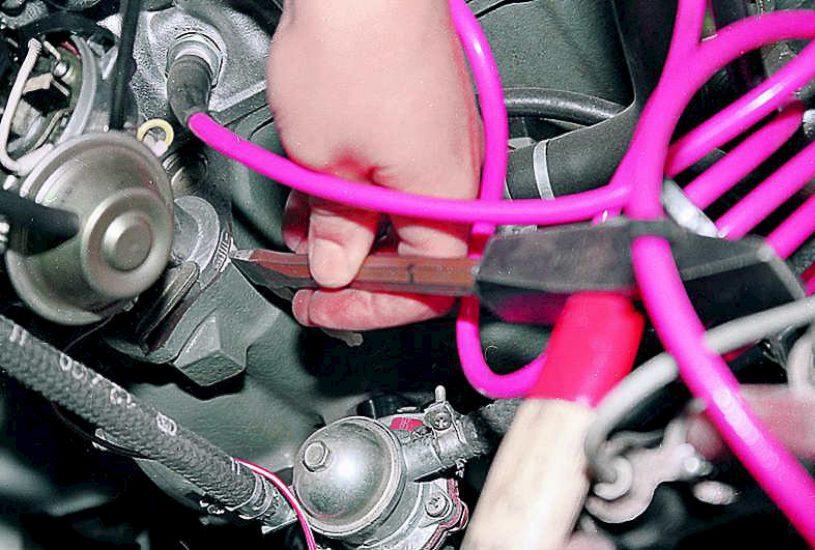 Регулировка угла опережения зажигания