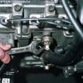 Установка датчика темературы двигателя