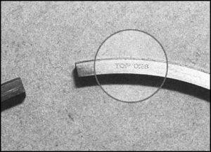 Маркировка поршневого кольца
