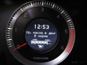 Уровень моторного масла в двигателе