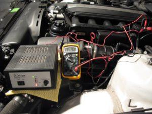 Напряжение при зарядке аккумулятора