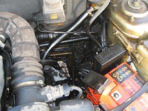 Двигатель в масле