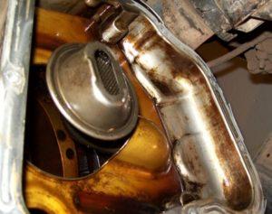 Маслоприемник двигателя