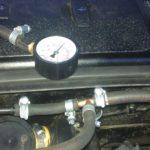 Замеры давления бензина в толивной рейке