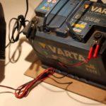 Зарядка аккумулятора зарядным устройством