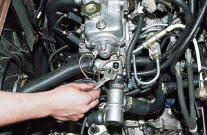 Установка датчика температуры двигателя