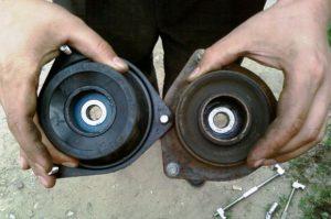 Замена подушек опор мотора