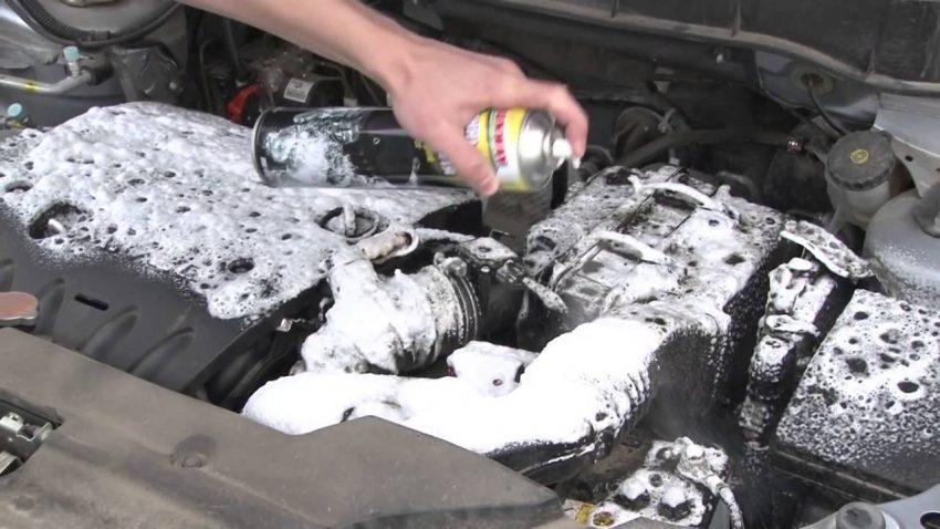 Наружный очиститель двигателя пенный какой выбрать тест