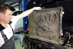 Причины перегрева двигателя забитый радиатор