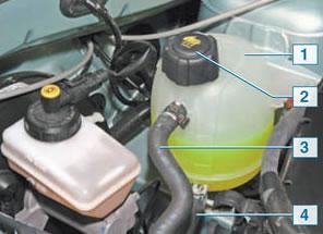 Устойство расширительного бачка системы охлаждения мотора