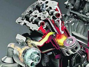 Многоцилиндровый двигатель автомобиля рабочий цикл