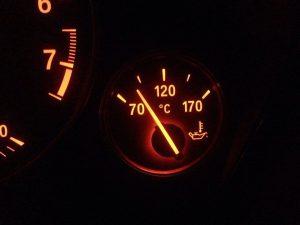 Температура двигателя не поднимается