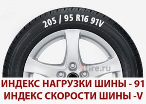Индекс скорости и нагрузки шин как подобрать