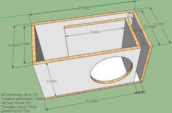 Чертеж корпуса для саба расчет корпуса саба
