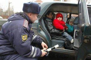Штраф за перевозку детей по новым правилам