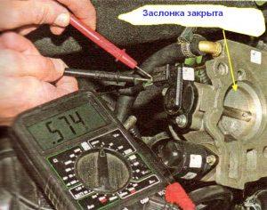 Диагностика ДПДЗ проверка датчика положения дроссельной заслонки мультиметром