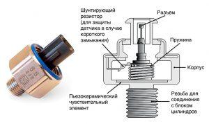Датчик детонации двигателя