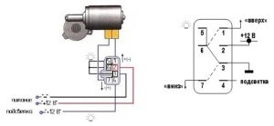 Подключение стеклоподъемника схема