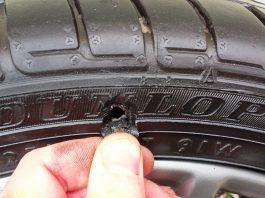 Ремонт боковых порезов шин или замена шины при боковом порезе