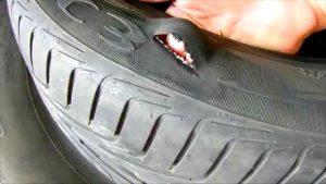 Боковой порез шины ремонт или замена