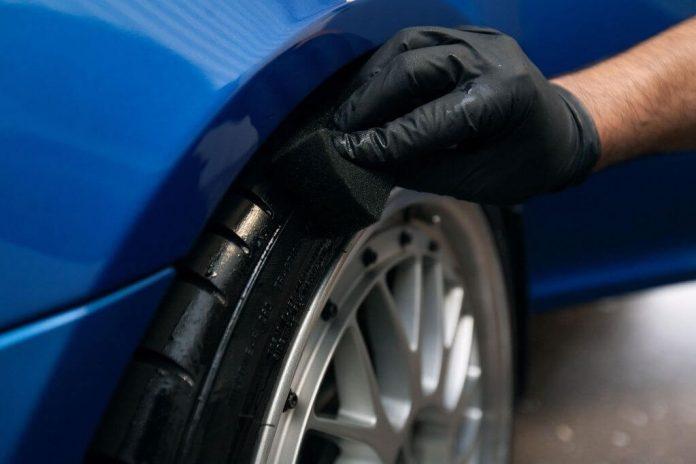 Чернение шин автомобиля своими руками способы