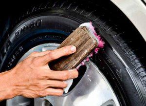 Чернение шин мылом