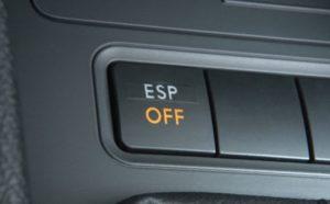Отключение электронной стабилизации ESP система курсовой устойчивости